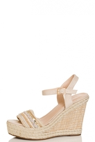 Quiz Nude Strap Hessian Strap Wedges