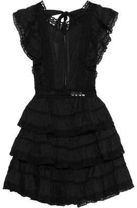 Zimmermann Juniper Tiered Pintucked Cotton-poplin Mini Dress