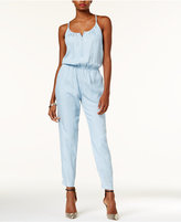 GUESS Beaded Zip-Front Jumpsuit