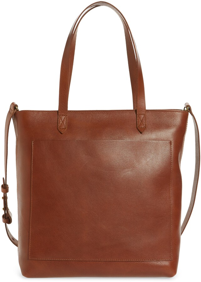 The Zip-Top Medium Transport Leather Tote