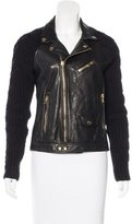 Moschino Cheap & Chic Moschino Cheap and Chic Paneled Leather Jacket