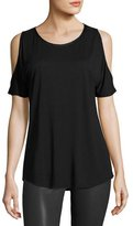 Paige Alessa Cold-Shoulder Tee, Black