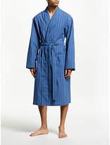 John Lewis & Partners Woven Stripe Dressing Gown, Blue