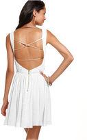 XOXO Juniors Dress, Sleeveless Animal-Print A-Line