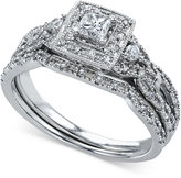 Macy's Diamond Square Bridal Set (1/2 ct. t.w.) in 14k White Gold