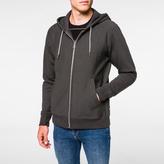 Paul Smith Men's Charcoal Grey Organic Loopback-Cotton Zip Hoodie