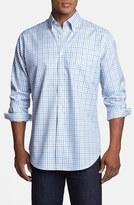 Peter Millar 'Nano-Luxe Tattersall' Regular Fit Sport Shirt (Tall)