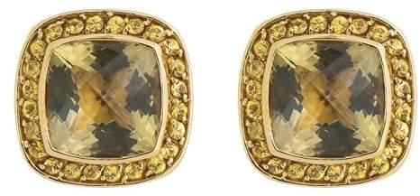 David Yurman 18K Yellow Gold Peridot Yellow Sapphire Earrings