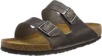 Birkenstock Men's Arizona SFB Open Toe Sandals, Grey Iron