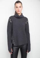 Generation Love Ambrose Eyelet Turtleneck Sweater