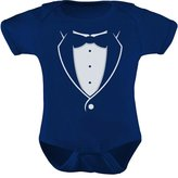 TeeStars - Tuxedo With Black Bow Tie Baby Boy Outfit Cute Baby Onesie 12M