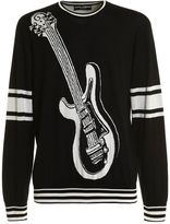 Dolce & Gabbana Silk Crewneck Guitar Print
