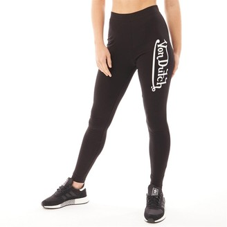 Von Dutch Womens V-Mineral Leggings Black/White