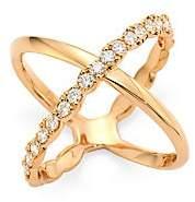 Hearts On Fire Women's Lorelai Diamond & 18K Rose Gold Crisscross Ring