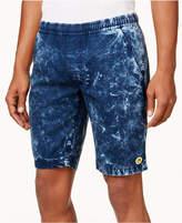 Lrg Men's Smiley Face Acid-Wash Shorts