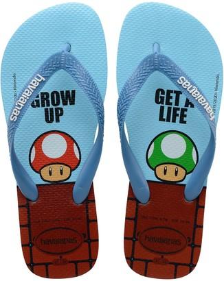 Havaianas Unisex Mario Bros Blue Rubber Flip-Flops