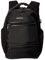 Kenneth Cole Reaction 17 TSA Checkpoint Friendly Laptop Tablet USB Charging Port Business Backpack (Black) Backpack Bags
