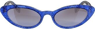 Miu Miu Glitter Cat Eye Sunglasses
