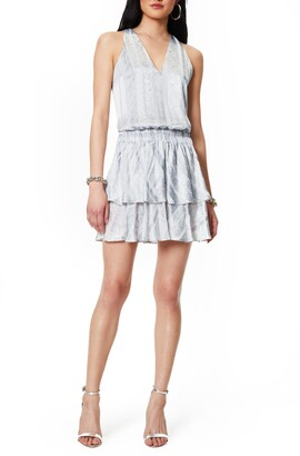 Ramy Brook Avery Snakeskin Stripe Minidress
