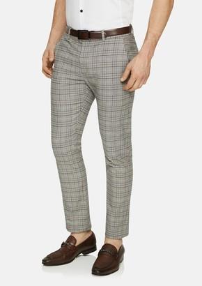 TAROCASH Natural Boston Slim Check Pant