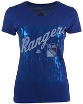 VF Licensed Sports Group Women's New York Rangers Hip Check T-Shirt