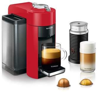 Nespresso Vertuo Coffee and Espresso Machine with Aeroccino by De'Longhi - Shiny Red