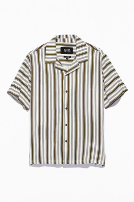 NATIVE YOUTH UO Exclusive Farrell Stripe Short Sleeve Button-Down Shirt