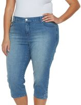 Gloria Vanderbilt Plus Size Jordyn Embroidered Denim Capris