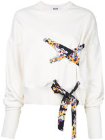 MSGM lace detail sweatshirt