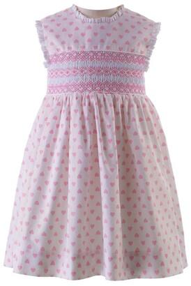Rachel Riley Cotton Love Heart Smock Dress (6-24 Months)