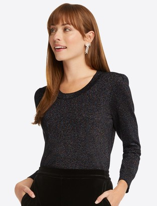 Draper James Lurex Sweater in Belle Meade Black