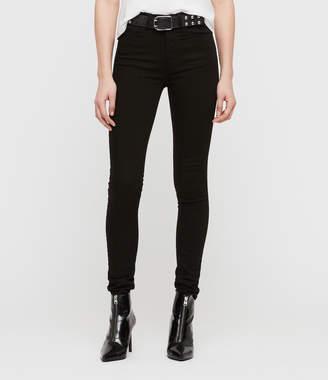 AllSaints Stilt High Waisted Skinny Jeans