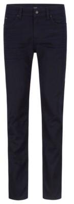 HUGO BOSS Slim Fit Jeans In Blue Black Italian Stretch Denim - Dark Blue