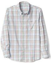 Gap Plaid poplin long sleeve shirt