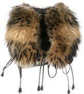 DSQUARED2 over coat gilet - women - Lamb Skin/Racoon Fur - 40