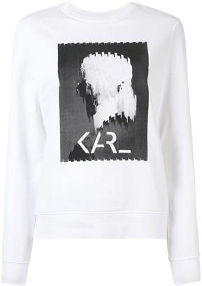 Karl Lagerfeld Paris Legend Print Sweatshirt