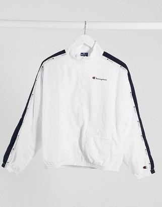 Champion boxy track jacket in white