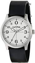RumbaTime Unisex 18933 Brooklyn Lights Out Analog Display Japanese Quartz Black Watch