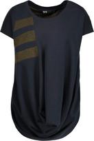 Y-3 + adidas draped printed cotton-blend T-Shirt
