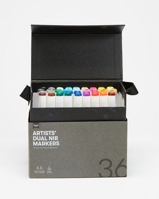 Typo - Multi All Stationery - Artists Dual Nib Markers 36-Pack - Size One Size at The Iconic