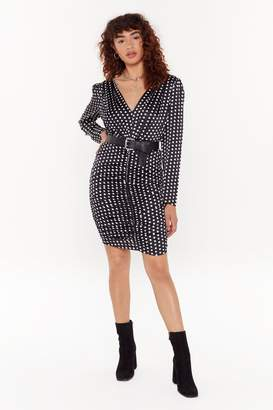 Nasty Gal Womens Spot Amused Polka Dot Mini Dress - black - S