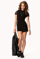 Forever 21 Lace-Sleeve Romper