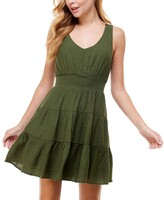 Thumbnail for your product : City Studios Juniors' Tiered Tie-Back A-Line Dress