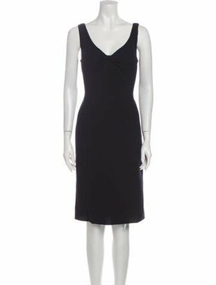 Oscar de la Renta 2007 Knee-Length Dress Wool