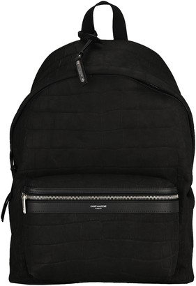 Saint Laurent Embossed City Backpack