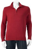 Croft & Barrow Big & Tall Classic-Fit 5gg Quarter-Zip Sweater