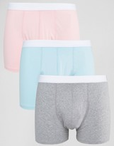 Asos Trunks In Pastel 3 Pack SAVE