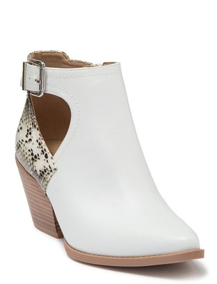 Seven Dials Queensbury Snakeskin Print Cutout Ankle Boot