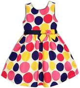 Joe Ella Little Girl's & Girl's Polka Dot Dress
