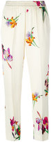 Etro floral print cropped trousers - women - Viscose - 46